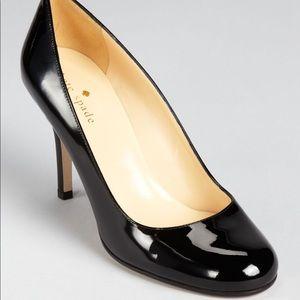 kate spade karolina heel black patent